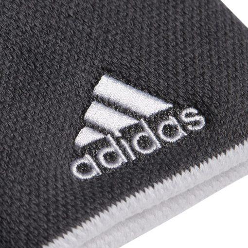 Muñequeras Adidas Grises Detalle