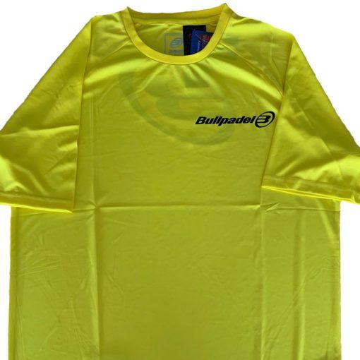 Camiseta Bullpadel Presente Amarilla