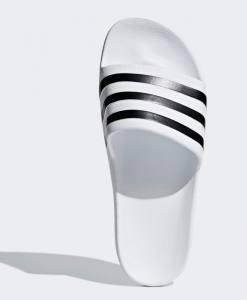 Chanclas Adidas Adilette Aqua Blancas Rayas Negras 2020