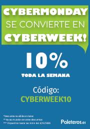 Cyberweek 10% de descuento en paleteros
