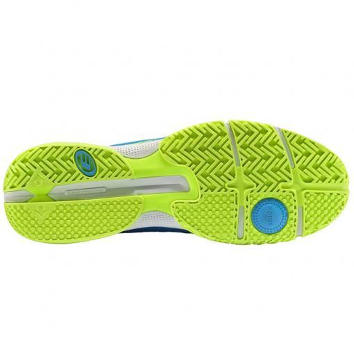 Zapatillas Bullpadel Hack Knit Azul-Verde Suela