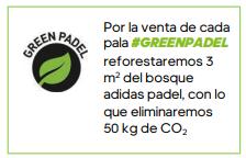 Adidas Greenpadel reforestará el bosque adidas padel con la venta de cada pala