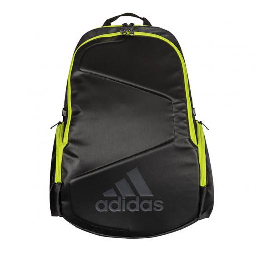 Mochila Adidas Pro Tour Lima y Negro front