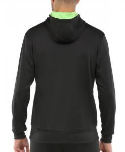 Sudadera Bullpadel negra con capucha