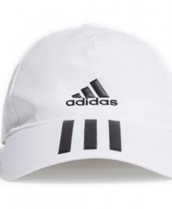Gorra Adidas Baseball Aeroready 3 bandas blanco 2021