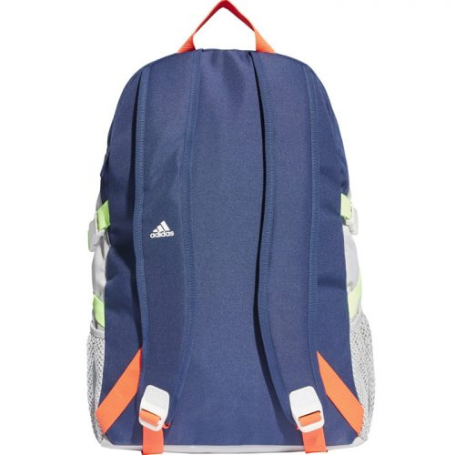Mochila Adidas Power V azul, naranja y gris