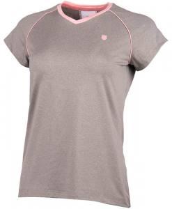 Camiseta K-Swiss Hypercourt Advantage Gris Mujer