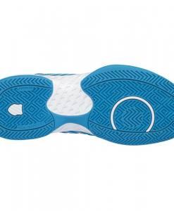 zapatillas k-swiss hypercourt supreme azules y blancas suela