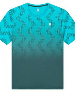 camiseta kswiss hypercourt print azul degradado