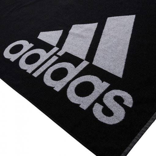 toalla adidas grande negra logo