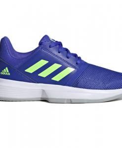 zapatillas adidas courtjam xj azul y verde